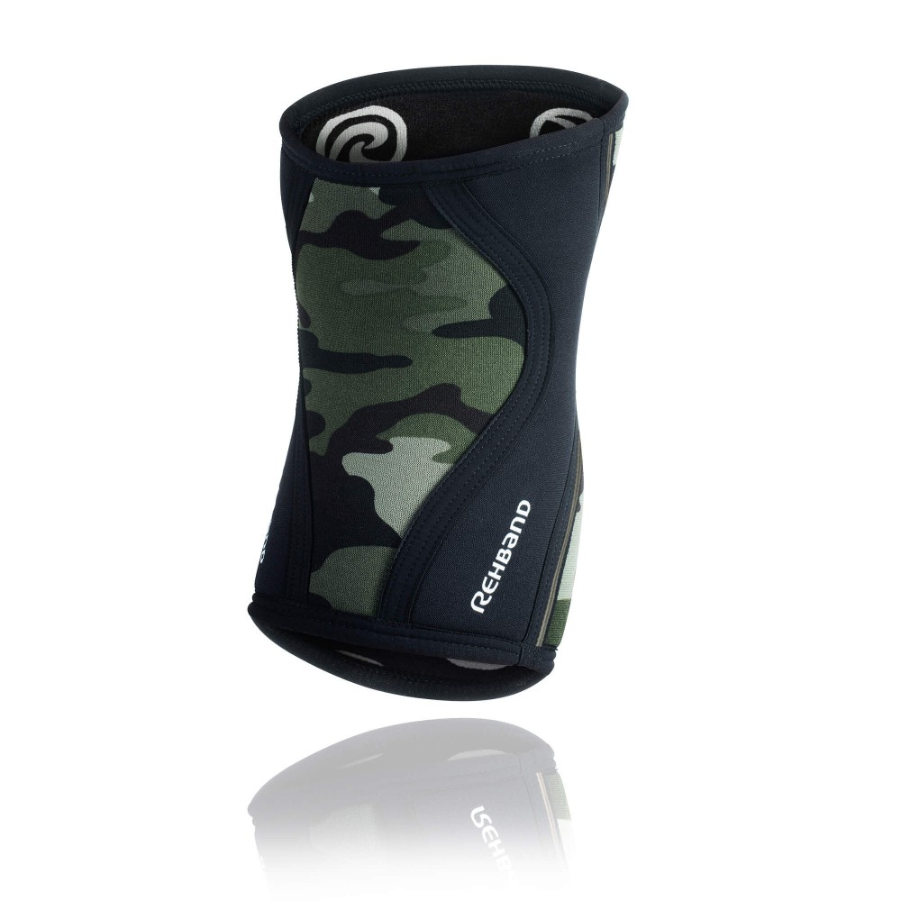 Rehband RX Knee Sleeve Vert Camo pour Crossfit 3