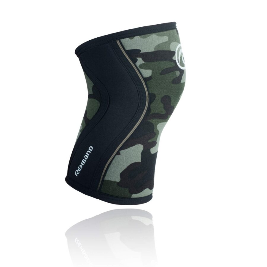 Rehband RX Knee Sleeve Vert Camo pour Crossfit 2