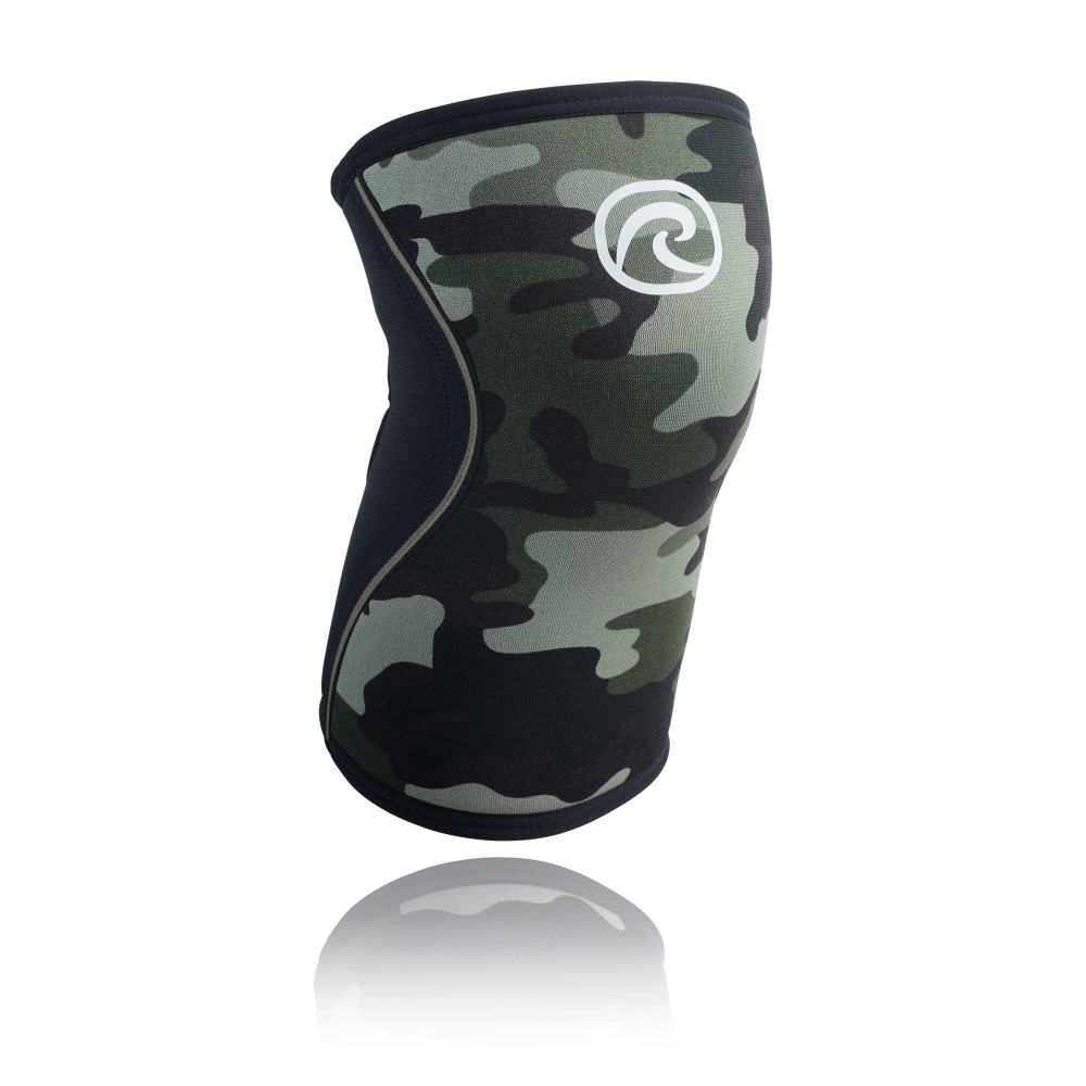 Rehband RX Knee Sleeve Vert Camo pour Crossfit