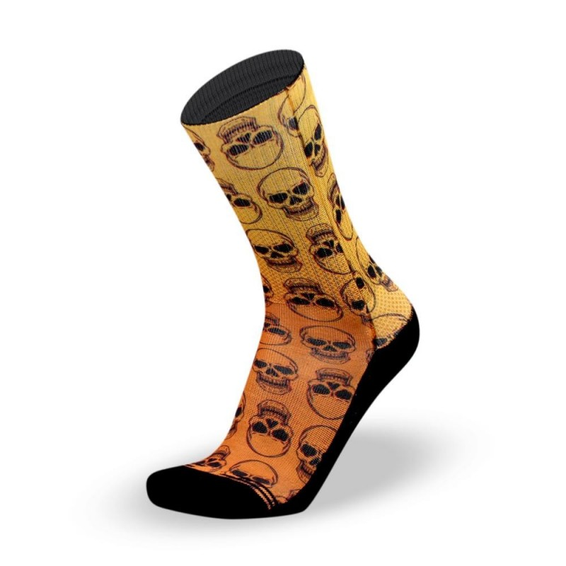 Chaussettes Crossfit Lithe Apparel - Skull Orange